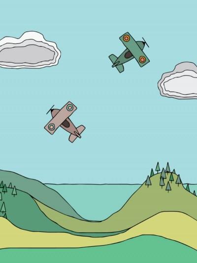 Plakat - Flyvemaskiner