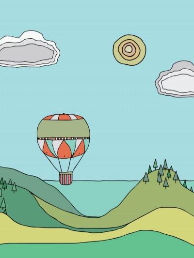 Plakat - Luftballoner