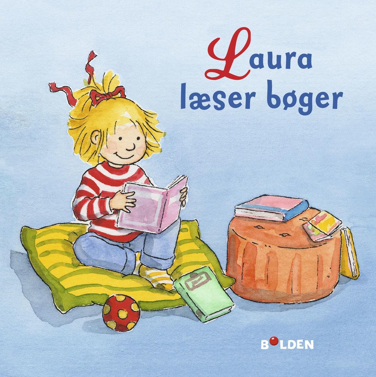 Laura læser bøger