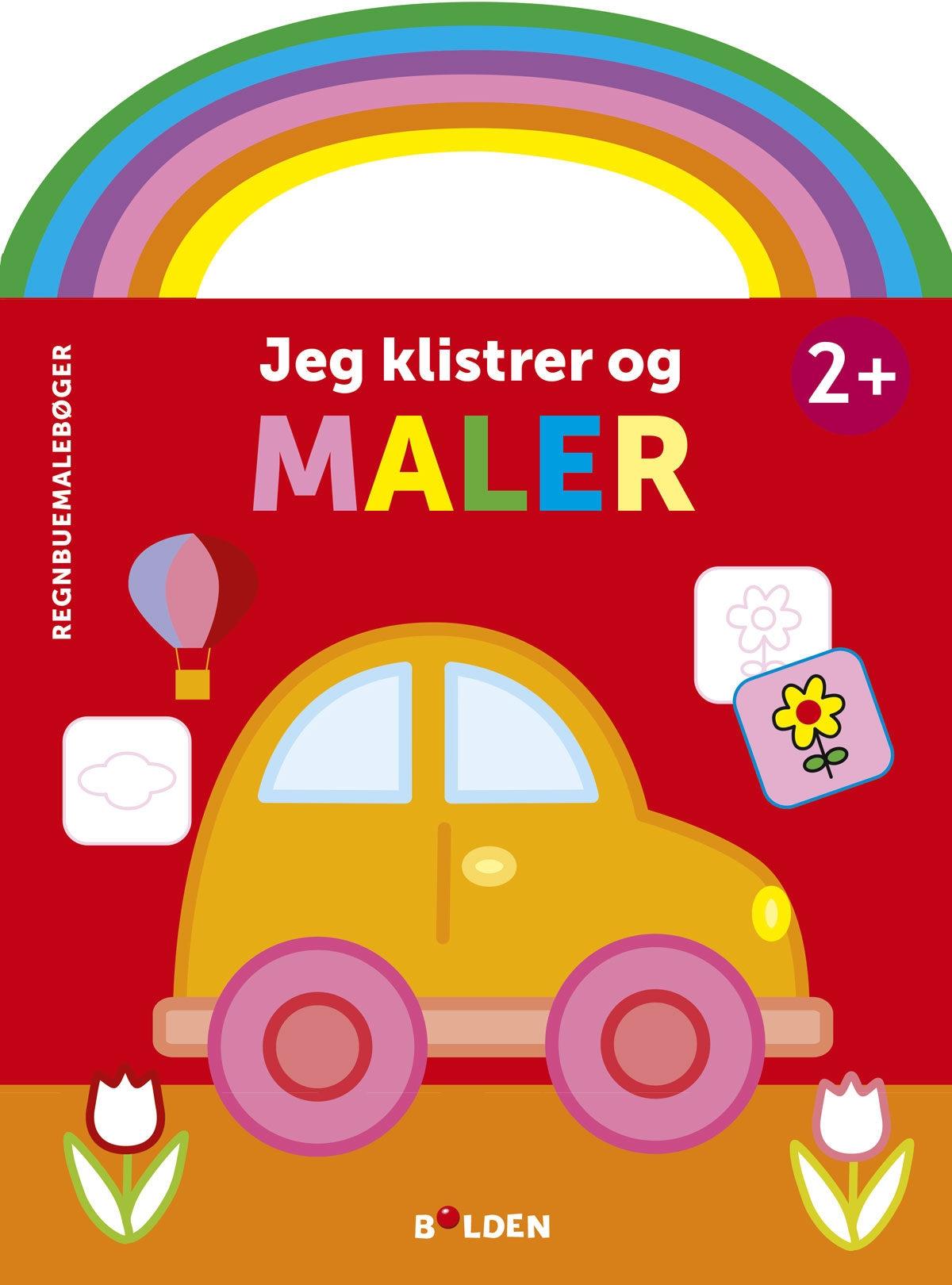 Regnbuemalebøger: Jeg klistrer og maler (Bil)