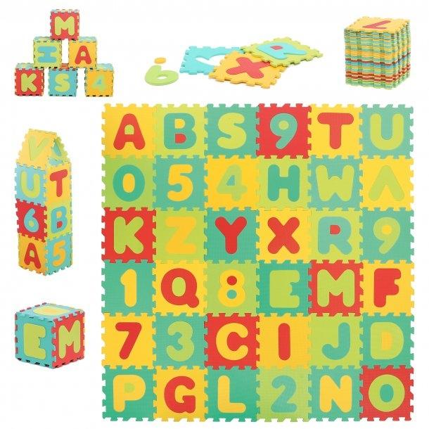 Legemåtte med bogstaver - Stor