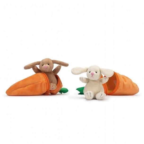 Bunnies - 1 stk. Kanin i Gulerod, Lille i 2 farver