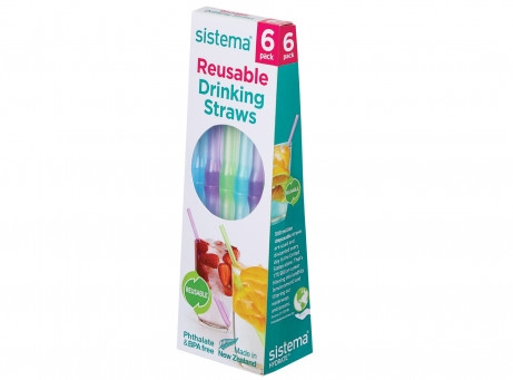 Reusable Drinking Straws 6 Pack